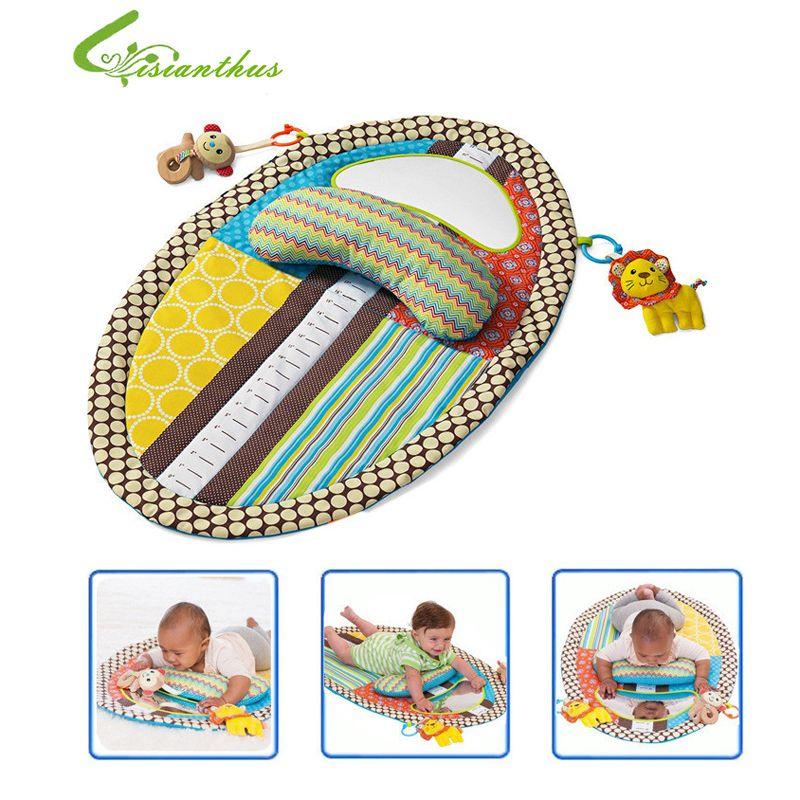 Babyspielmatte Abnehmbare Wickelauflage Säuglingskleinkinder Höhenmess Früherziehung Spielzeug mit Kissen Sicherheit Spiegel Freies Schiff