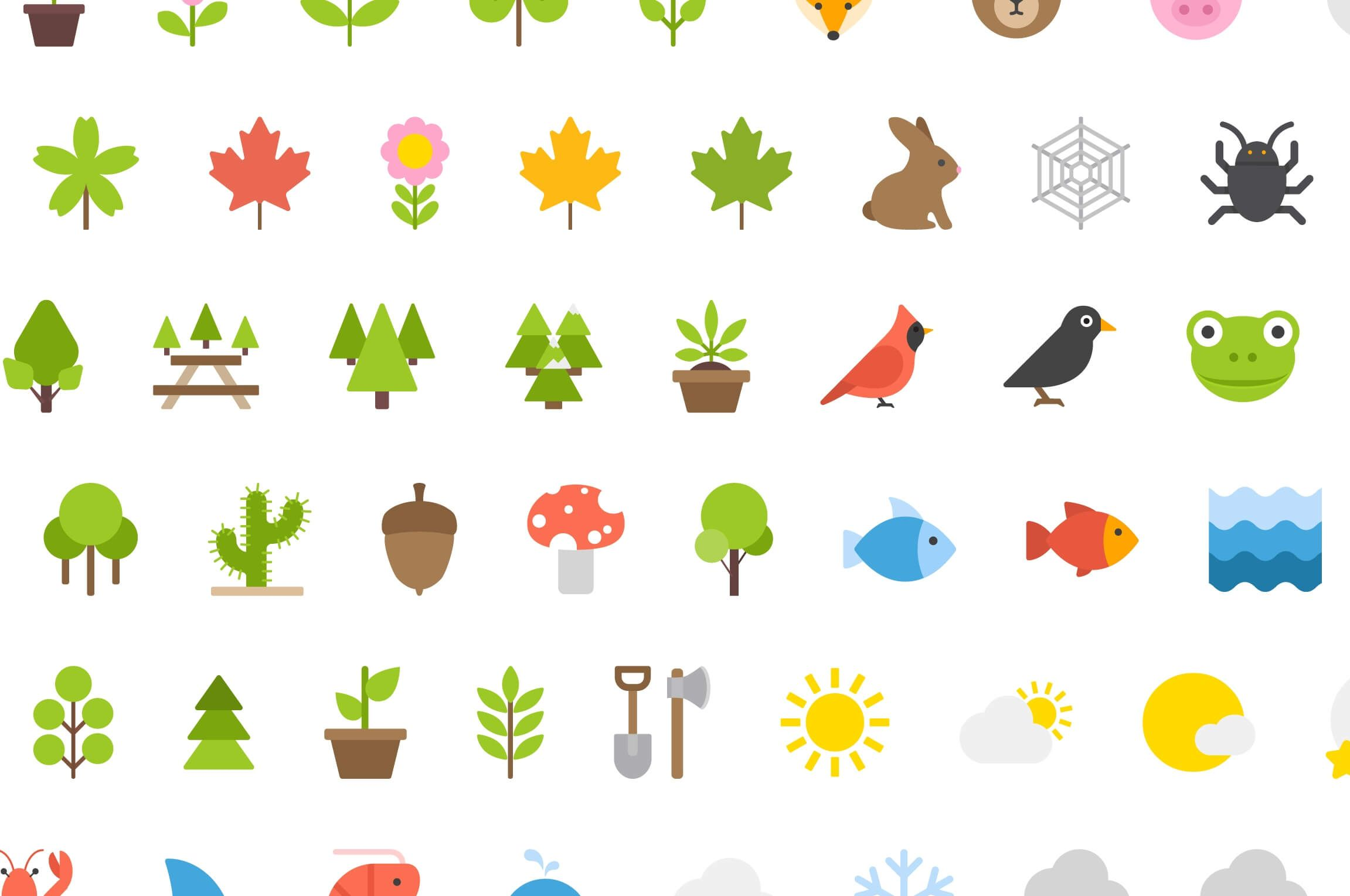 Free Download 100 Nature Icons by Vecteezy NOW ON Free