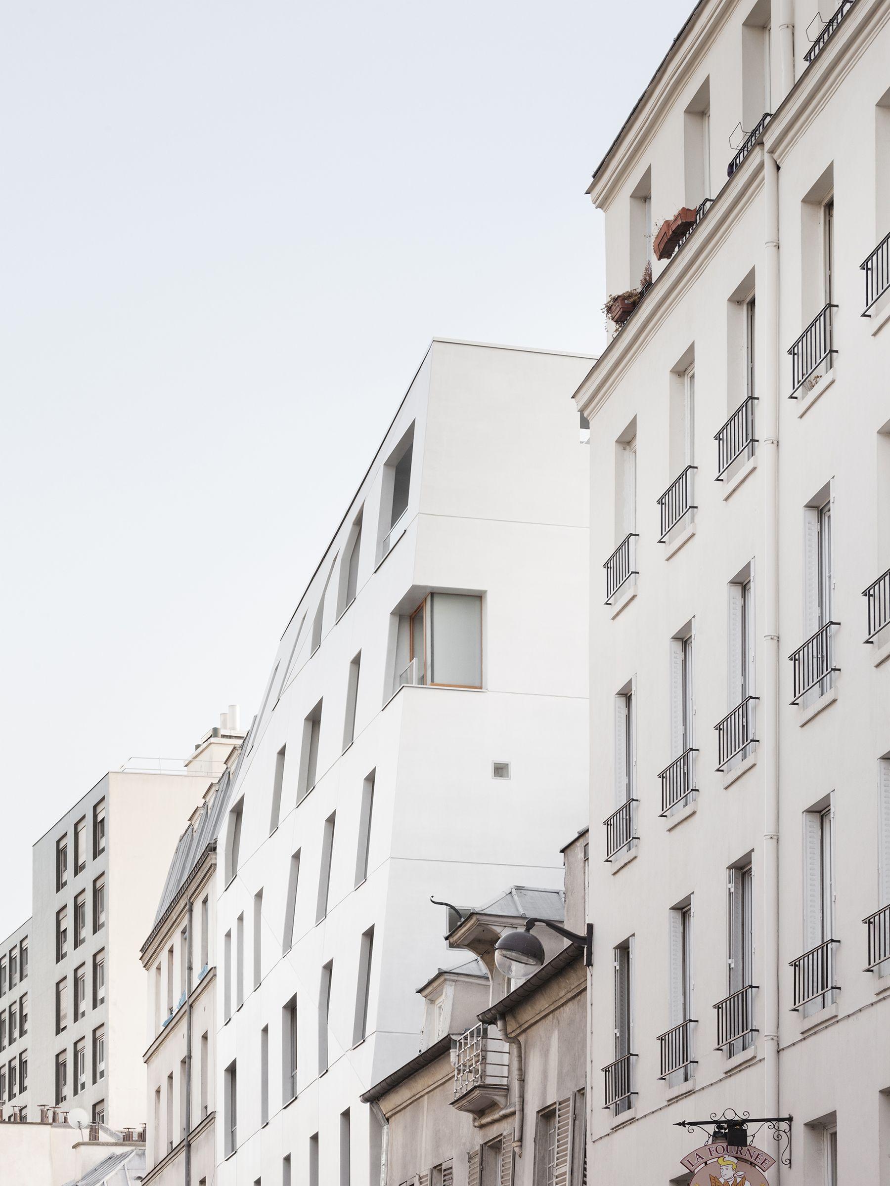 RUE SAINT MAUR Projet De Logements Sociaux Facade Beton Paris 10