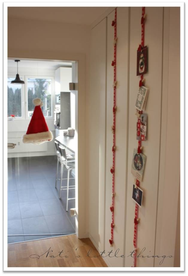 Nati\'s little things: Christmas card hanger... Another 5 minute ...