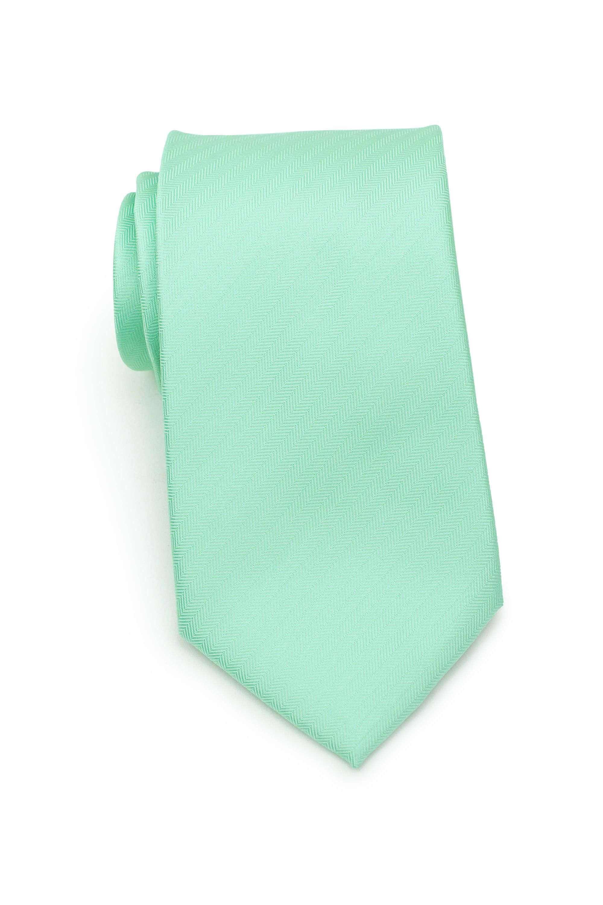 New men/'s polyester woven neck tie mint green tone on tone geomatric pattern