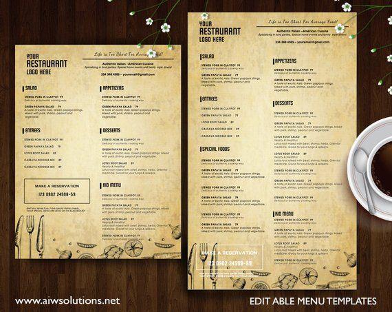 vintage menu templates printable restaurant menu template italia menu templatediy bar menu templa