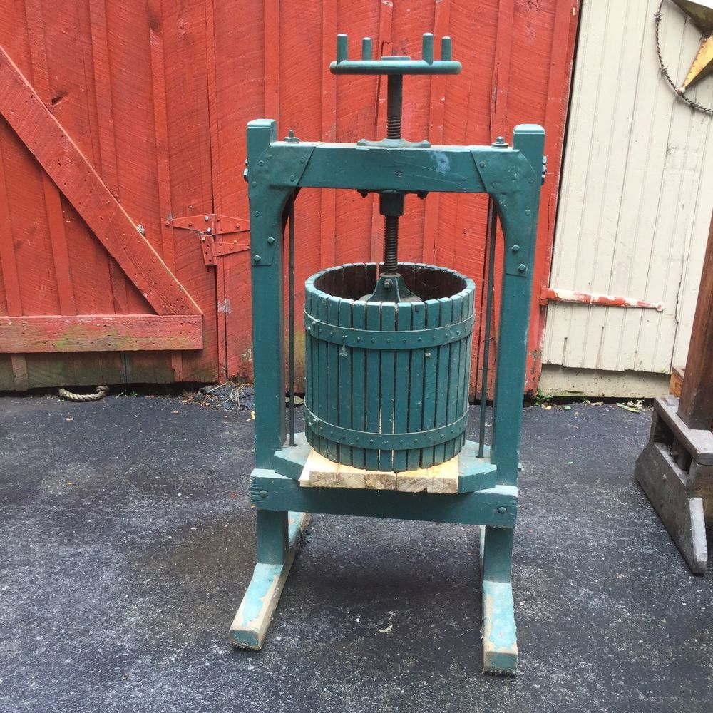 Vtg Antique Wood Iron Primitive Grape Apple Cider Wine Press Rustic Farm Green Grape Apple Wine Press How To Antique Wood