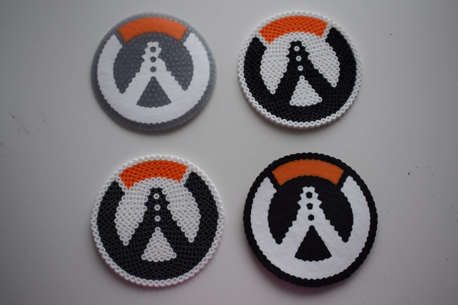 OVERWATCH Emblem Coasters - Perler Beads by LadyLeeCosplay on Etsy (null)