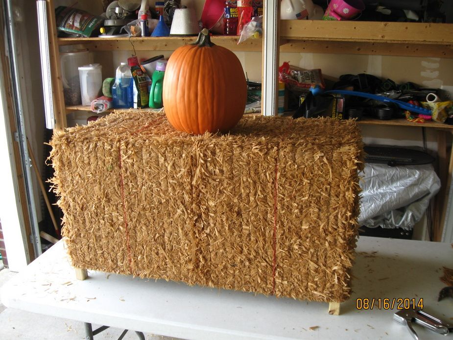 Built Three Fake Hay Bales For My Halloween Display This Year