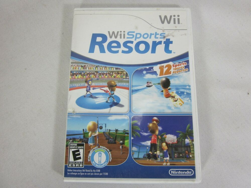 Wii Sports Resort (Nintendo Wii, 2009) game disc book and