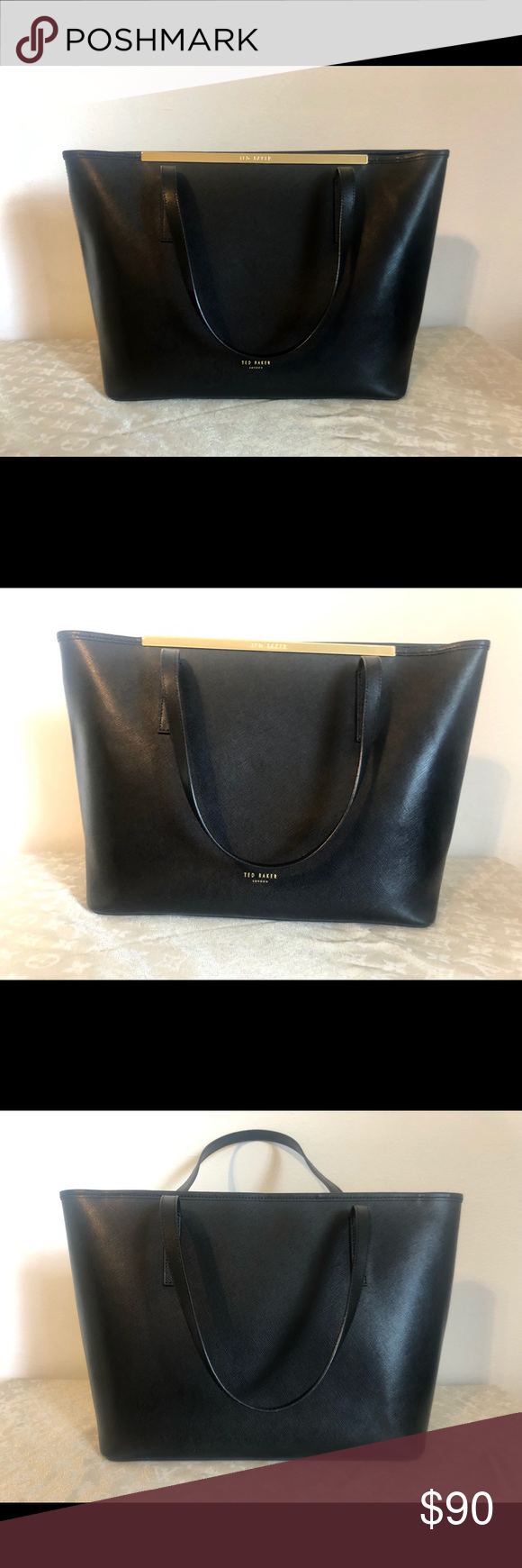 46893e2773 Ted Baker London Black Large Noelle Shopper Tote Only worn once! Ted Baker  London Black