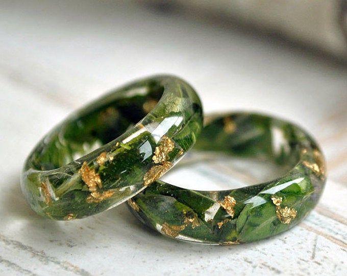 Nature rings, nature inspired rings, resin ring fl