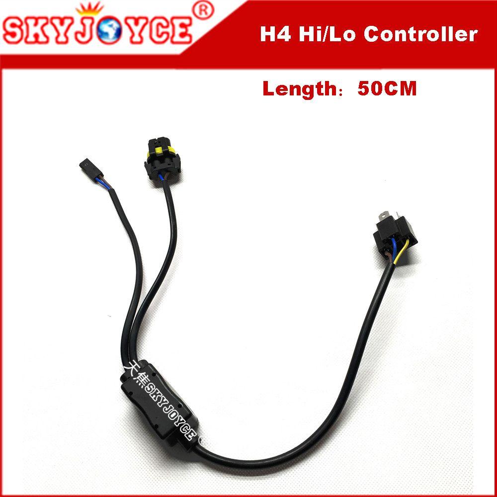 1 For 12v 35w Hid Bi Xenon H4 Wire Harness Controller Car Headlight Control