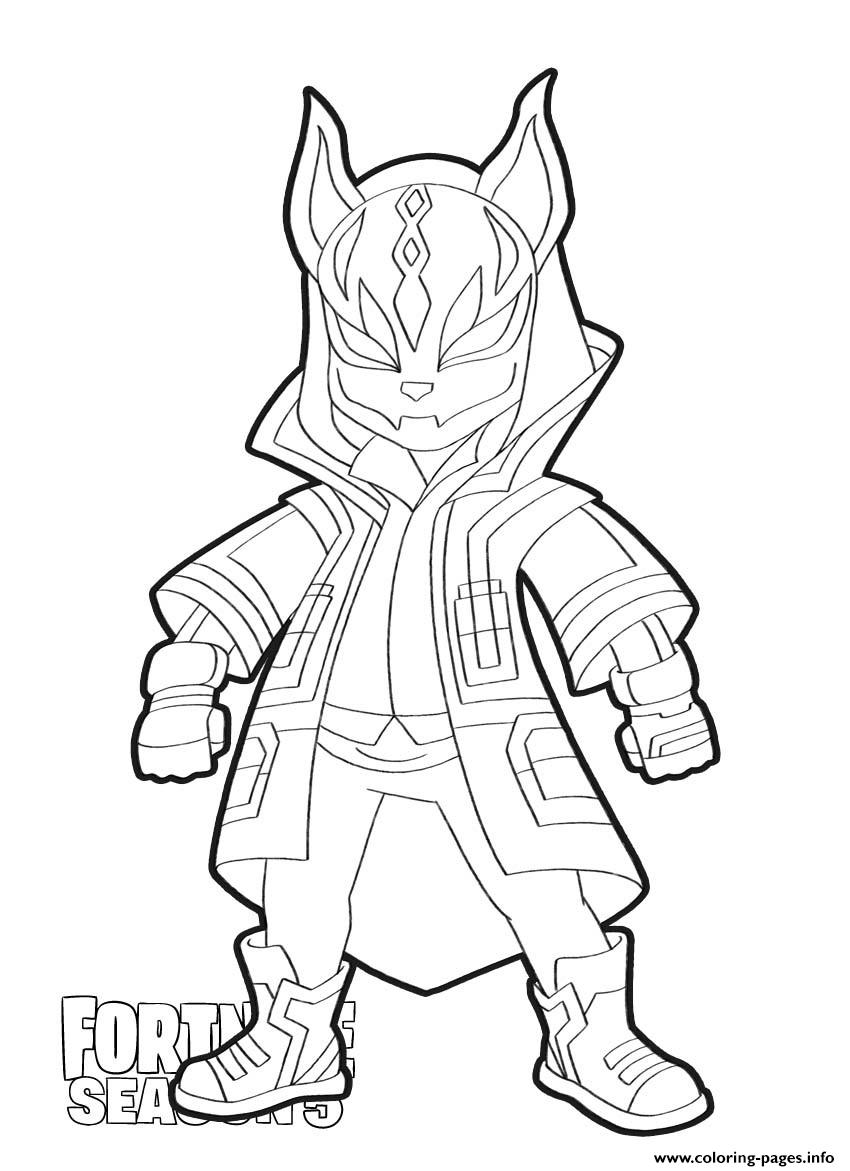 Print Drift skin from Fortnite Season 21 coloring pages  Coloring