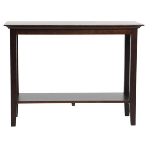 Noir 2 Shelf Console Table