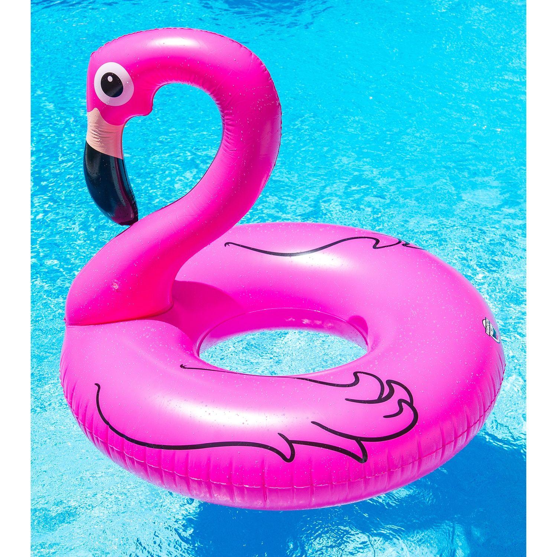 Big Giant Floating Pink Flamingo Inflatable Swimming Pool Float