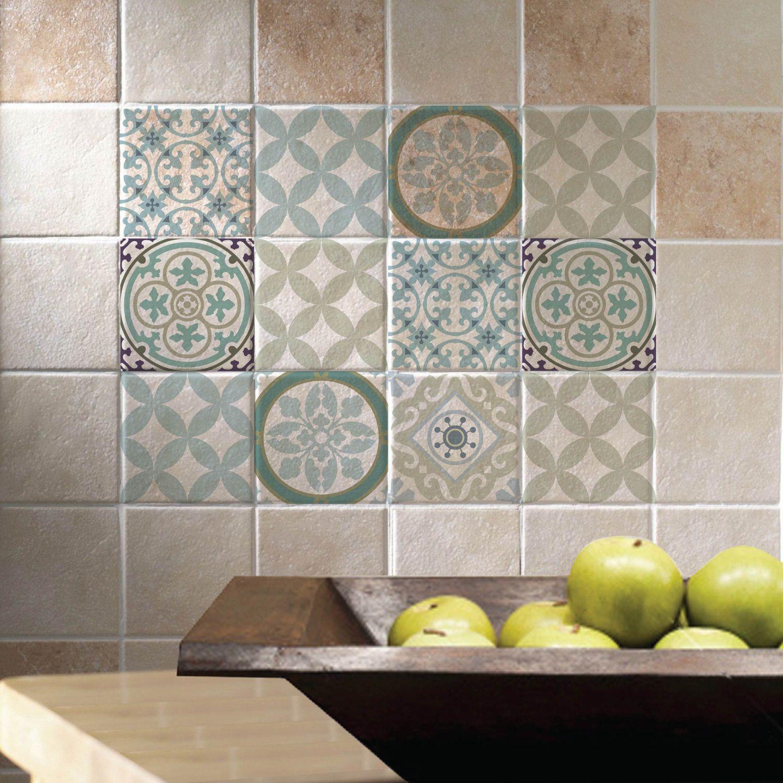 Great Mix Tile Decals Kitchen/Bathroom Tiles Vinyl Floor Tiles Free Shipping    Design 313 By