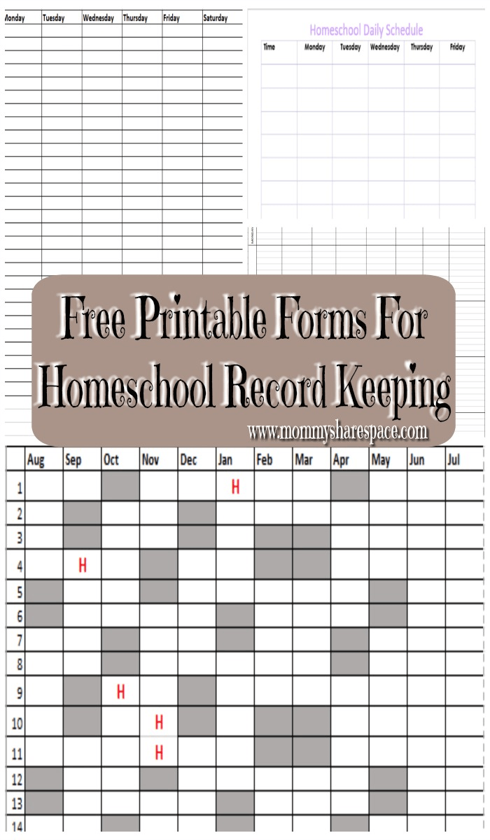 graphic regarding Free Printable Homeschool Record Keeping Forms referred to as Absolutely free Printable Styles For Homeschool Heritage Trying to keep My Website