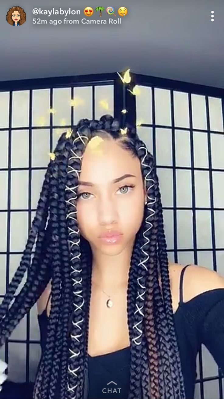 Box braids protective style blackwomennaturalhairstyles