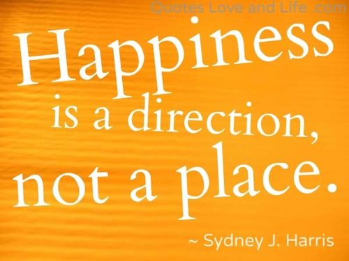 Happiness Is A Direction   More Than Reality