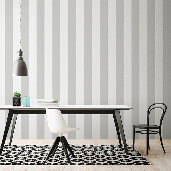 Papel pintado rayas gris y blanco en https - Papel pintado rayas gris y blanco ...