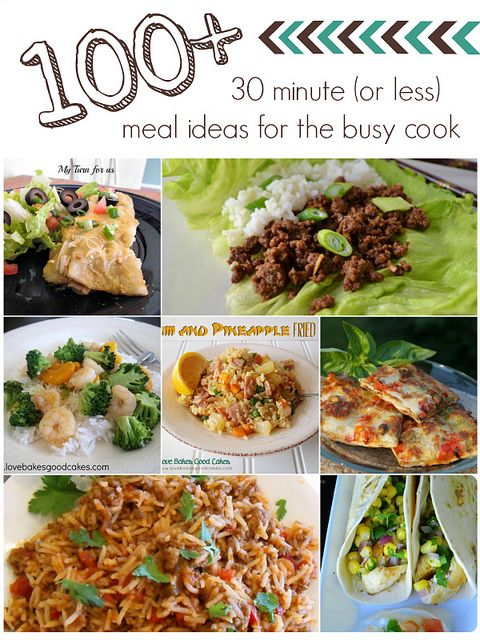 100 30 minute or less meal ideas for the busy cook meal ideas 100 30 minute or less meal ideas for the busy cook by lovebakesgoodcakes sisterspd
