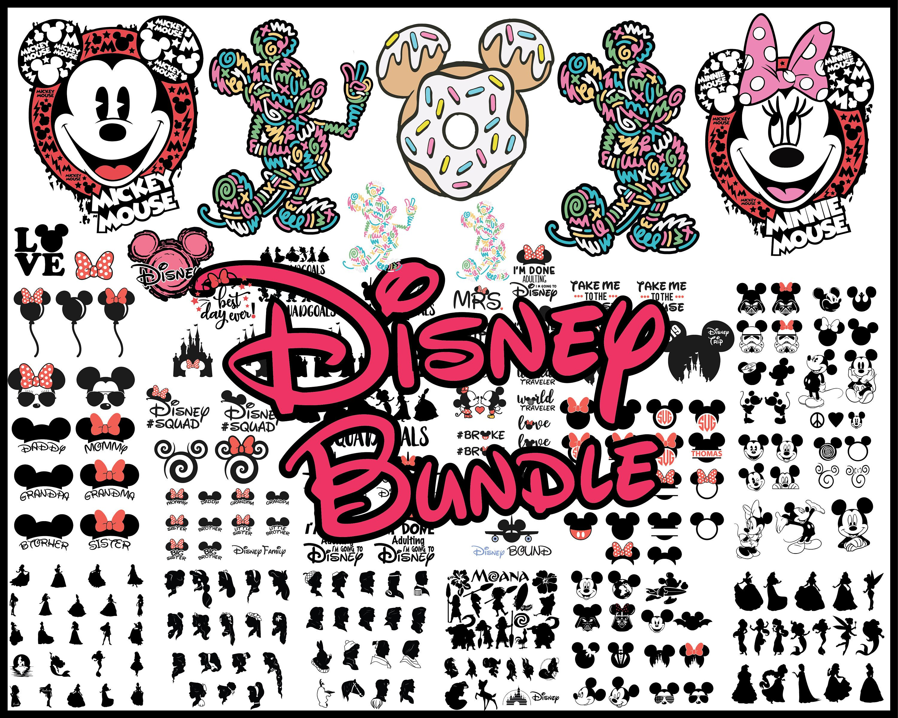 Disney svg Disney bundle svg Mickey mouse svg Minnie mouse