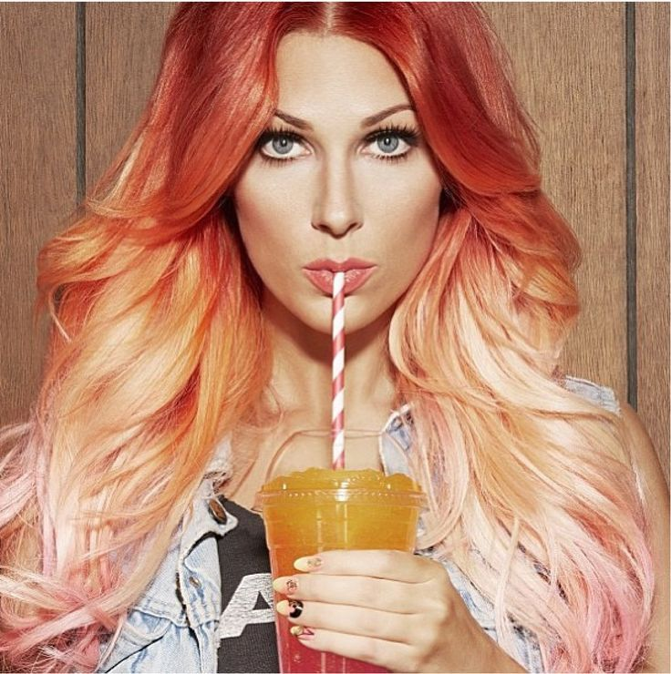 Pin By Sara R On Hair Coloring I Love Dyed Hair Ombre Orange Ombre Hair Peach Hair Dye