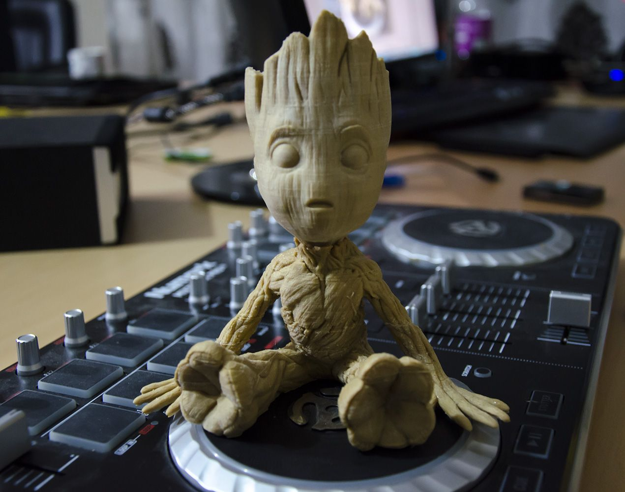 Thingiverse Baby Groot Baby Groot 3d Printer Designs 3d Printing
