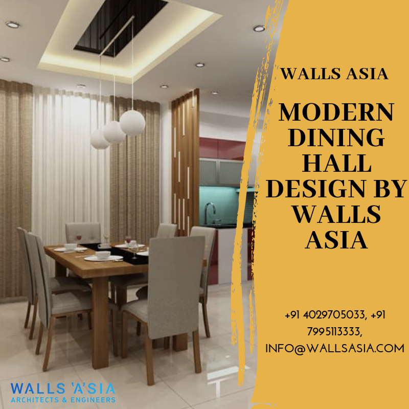 Modern Dining Hall Designs by Walls Asia Architects and ...