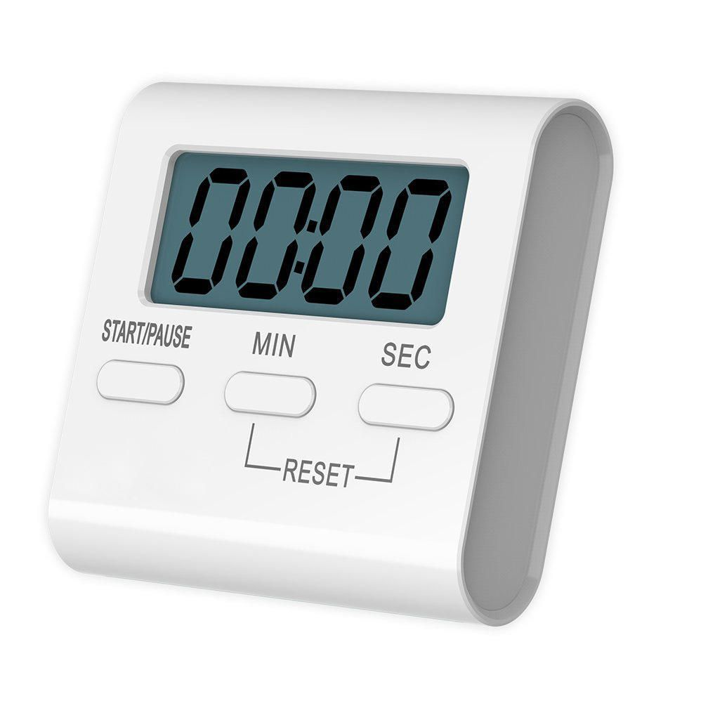 Loskii KC 10 Digital Kitchen Timer Big Digits Loud Alarm Magnetic Backing  Stand For Cooking