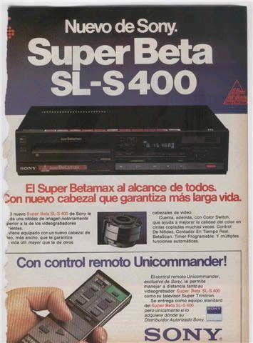 RETRO PUBLICIDAD BETAMAX AÑOS 70