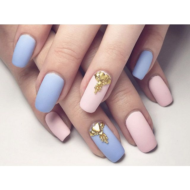 Nails Design Blue And Pink