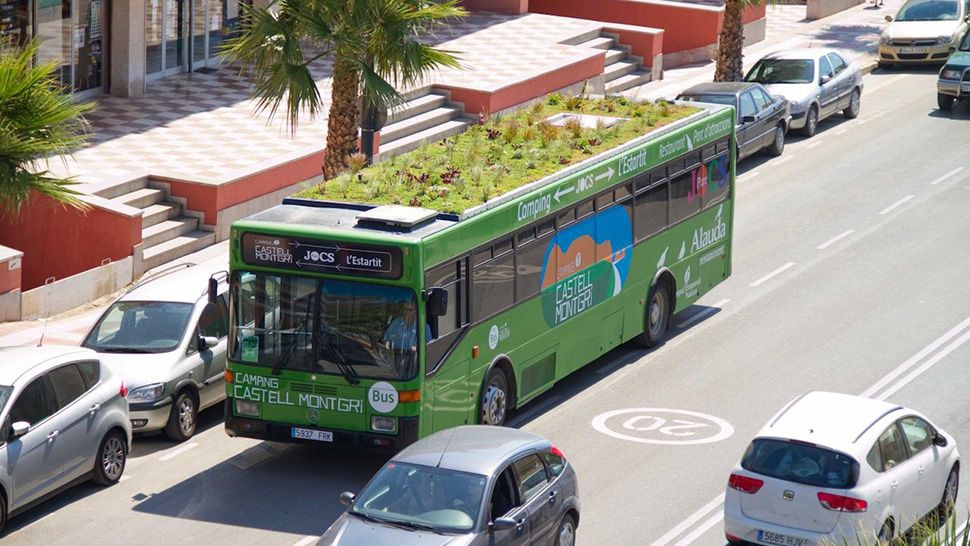 """This City Planted """"Moving Gardens"""" On Its Buses"""