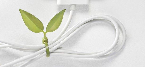 Attacher vos cables électriques avec des feuilles. / Leaf Tie. / By Lufdesign.