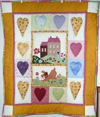 Sweet home e hearts quilt