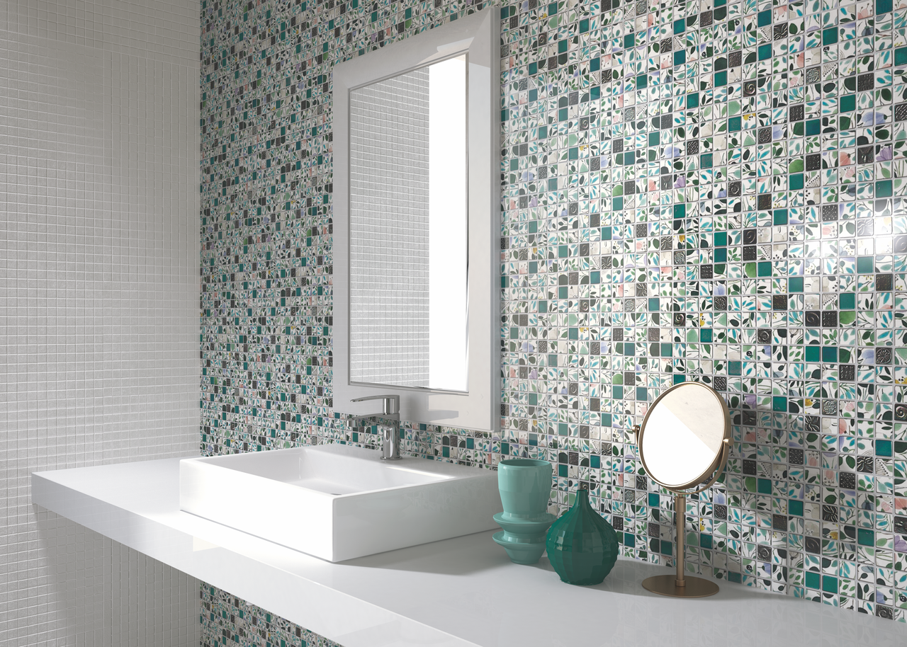 Spring Green Recycled Glass Mosaic Tile is an eco-friendly product ...