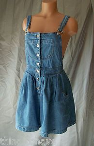 Vintage Moda International Int'L Blue Jean Shorts Overalls Romper Shortalls | eBay