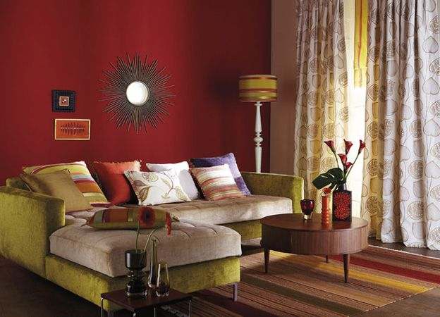 red and green living room. Room 26 Great Living Design Ideas by Harlequin  Red living rooms