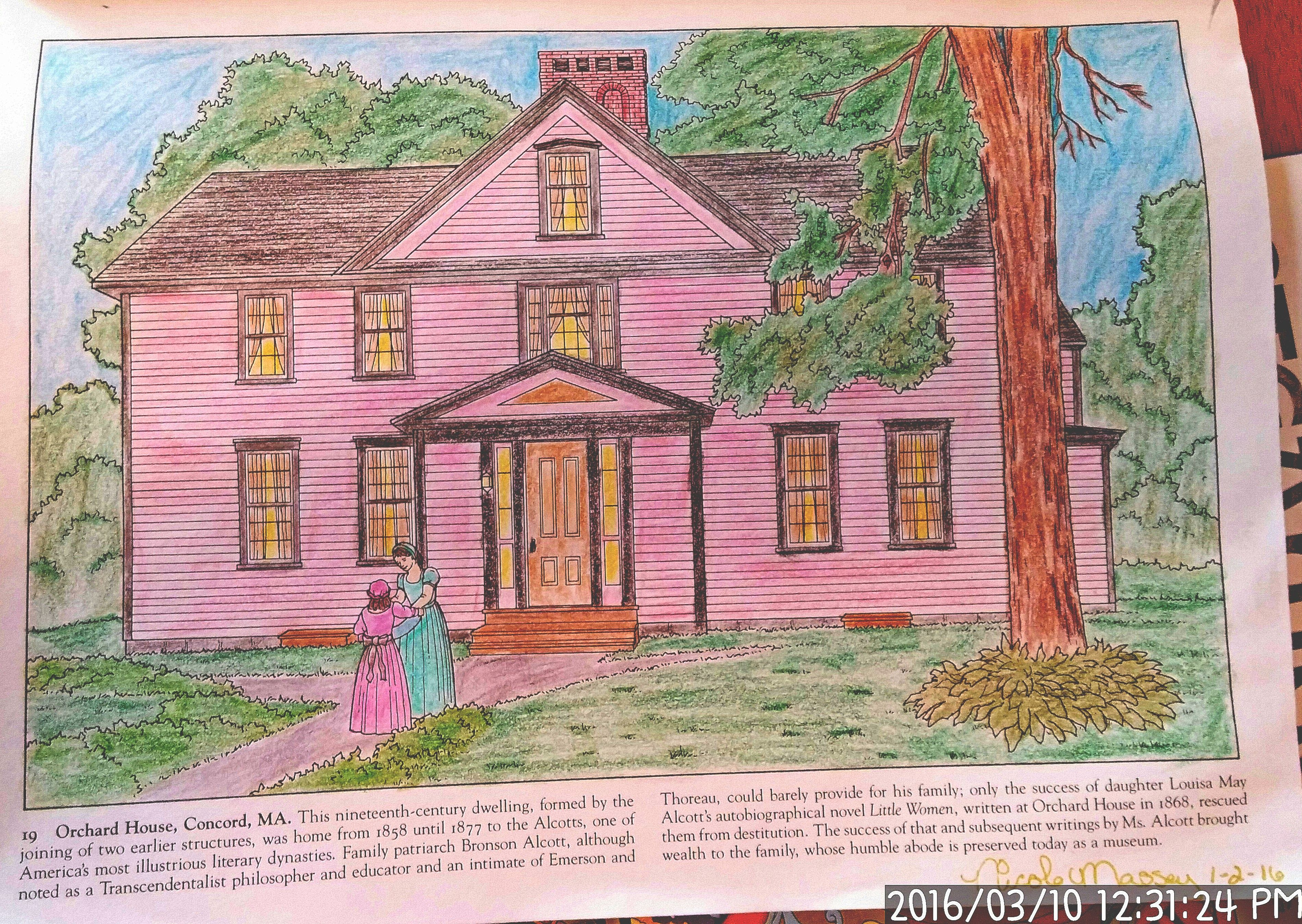 Historic Homes of New England Dover Coloring Book, page 19, Orchard ...