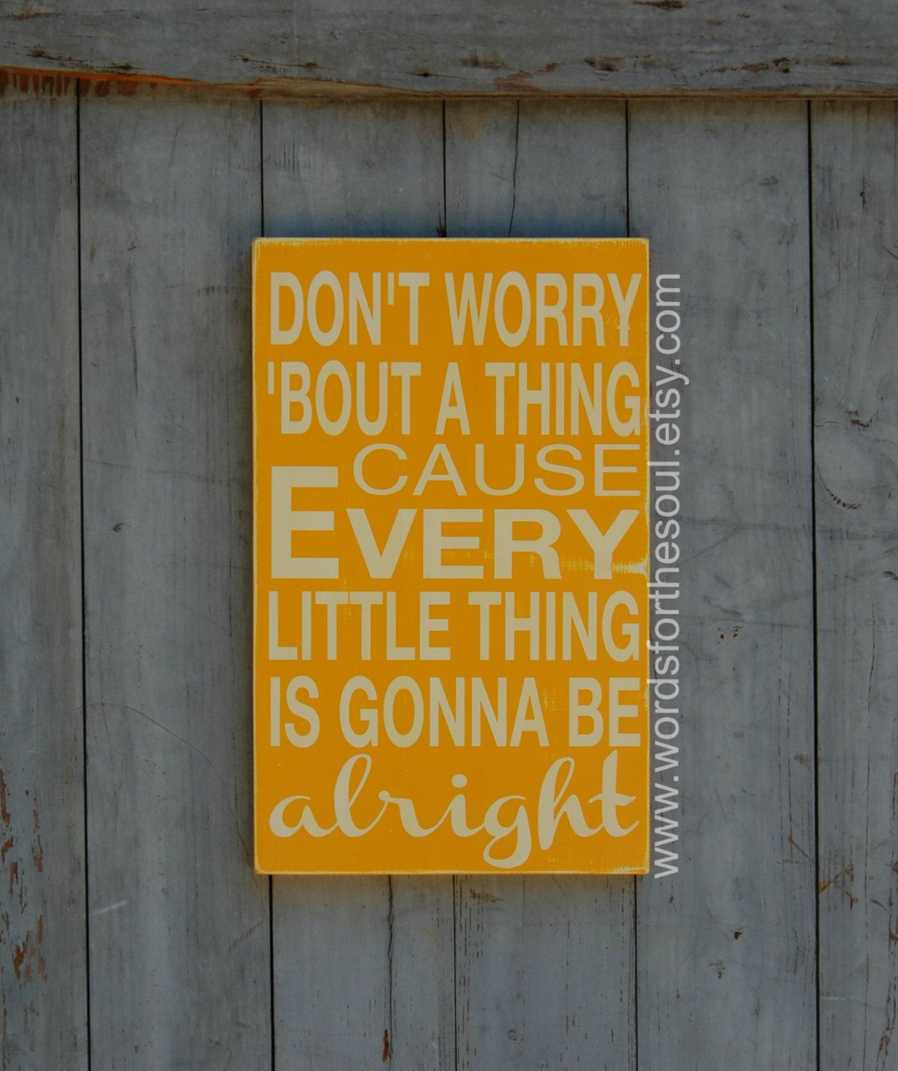 Don\'t Worry About A Thing - Three Little Birds - Inspirational Wall ...