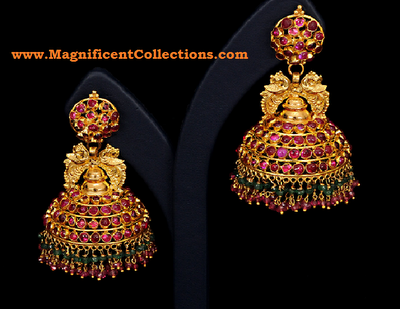 Jhumkas - Temple Jewelry | Objet d'art: Antique Jewelry in