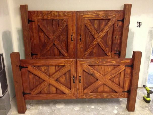 RYOBI NATION - Barn Door Bed | Rusticas, Ideas de organización y ...