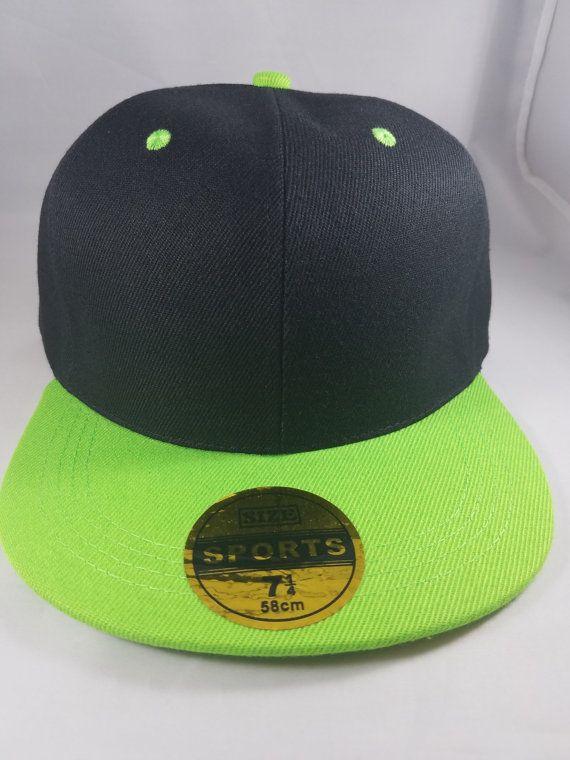 Black and Green Snapback Hat  e89b4b24eb48
