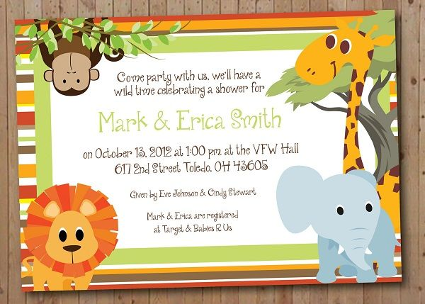 Animal theme baby shower google search lisas baby shower safari baby shower or birthday invitation by ayleighdesigns filmwisefo