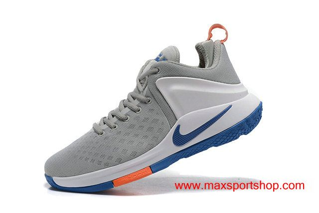 27027396a0723 Nike Zoom Witness Cool Grey White Blue Orange Basketball Shoes  67.00