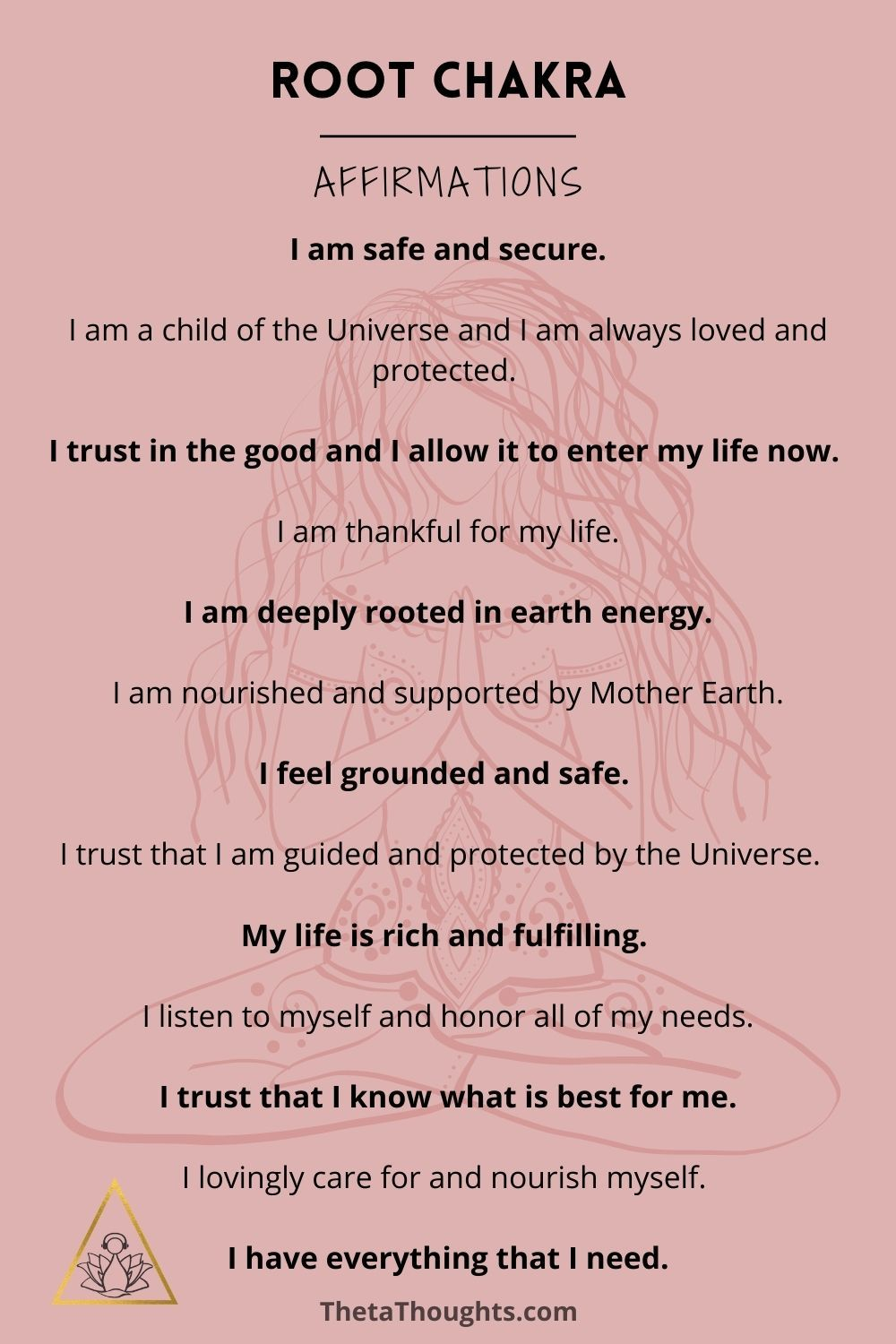Positive Affirmations for Root Chakra
