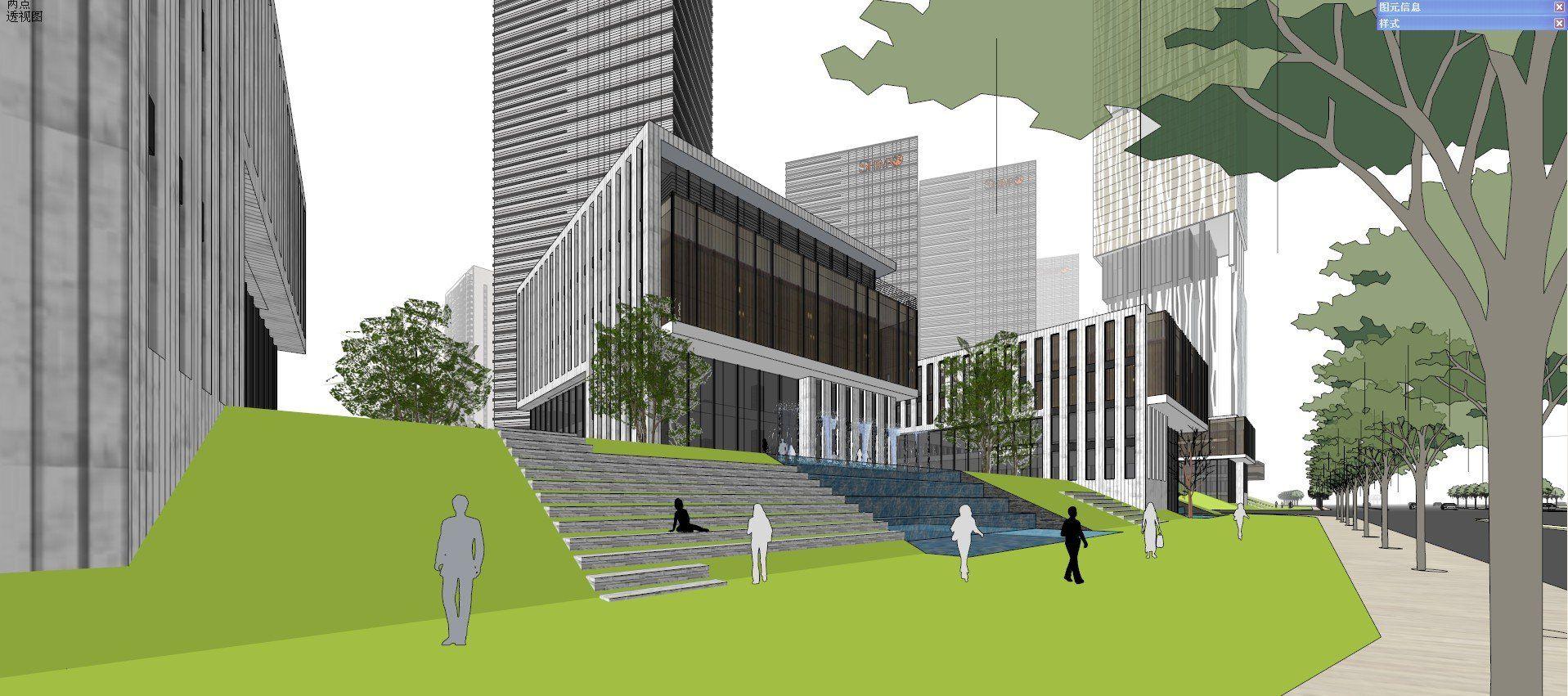 ☆Sketchup 3D Models-Business Building Sketchup Models 22
