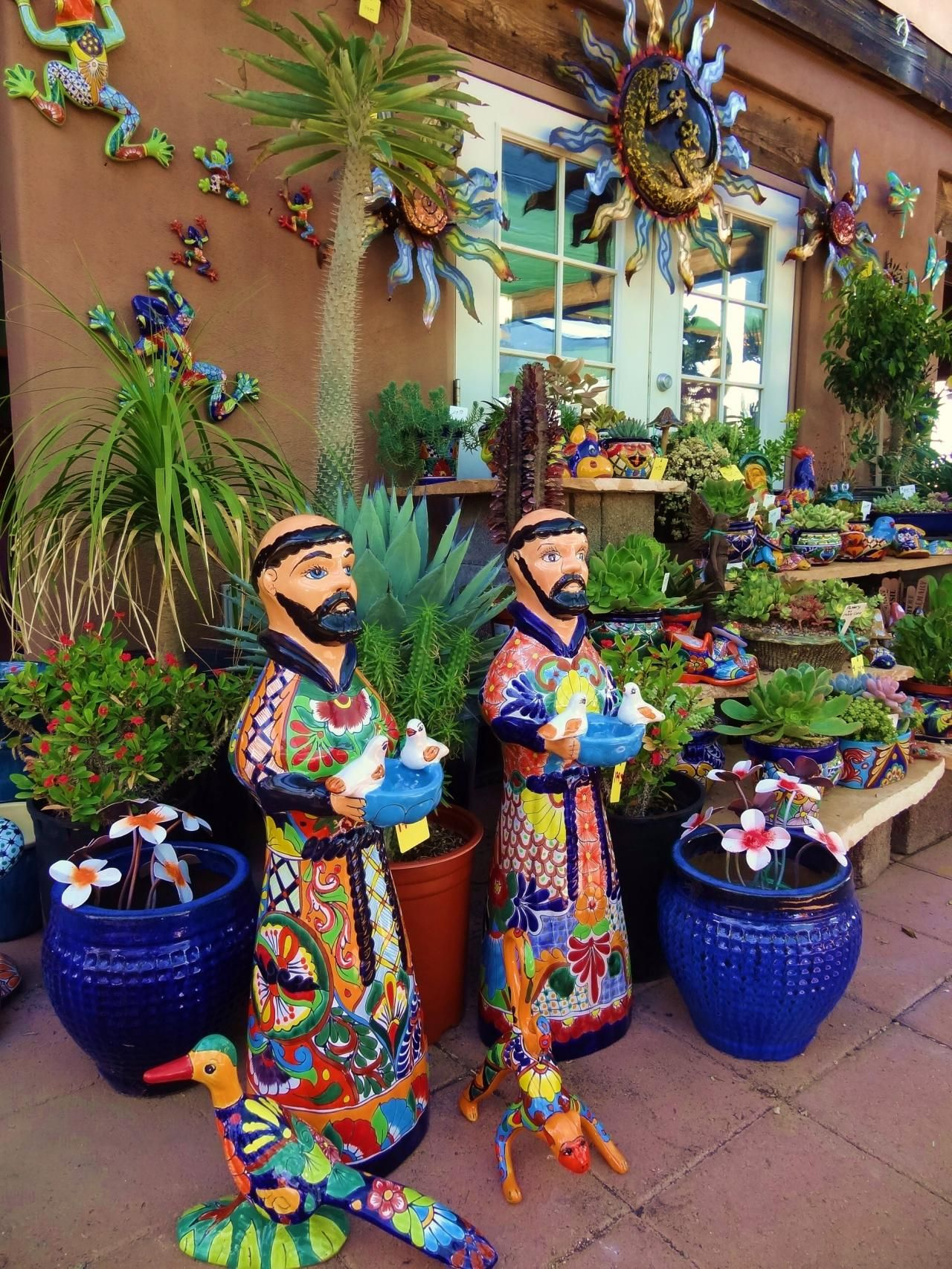 Desert Gardens Nursery - Talavera Pottery#Next | Garden ... on Mexican Backyard Decor id=19665