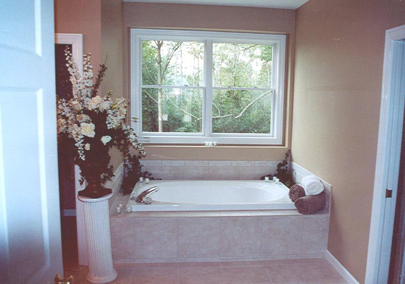 Love the window above the tub. Modular home bathroom with plenty ...