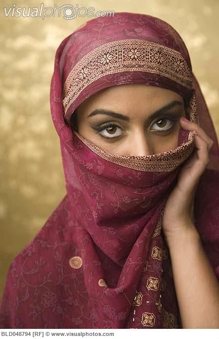 Middle East Women  Middle Eastern Woman Wearing Face Covering Bld048794  Stock -1060