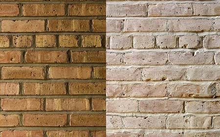 Let me whitewash a little decorating options for face brick homes diy pinterest for How to remove paint from interior brick