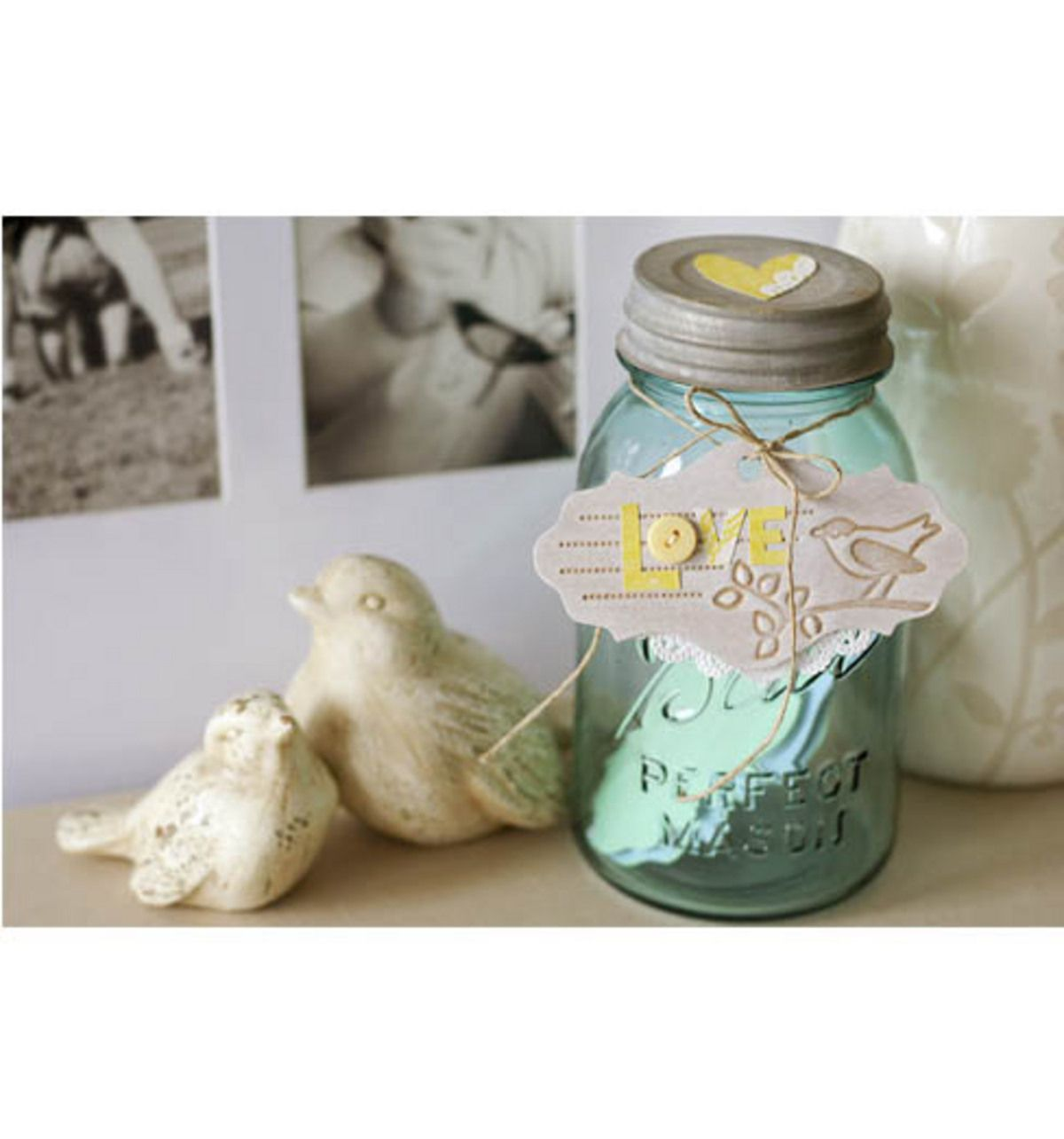 Store your love notes on Valentine's Day in a Ball Jar!