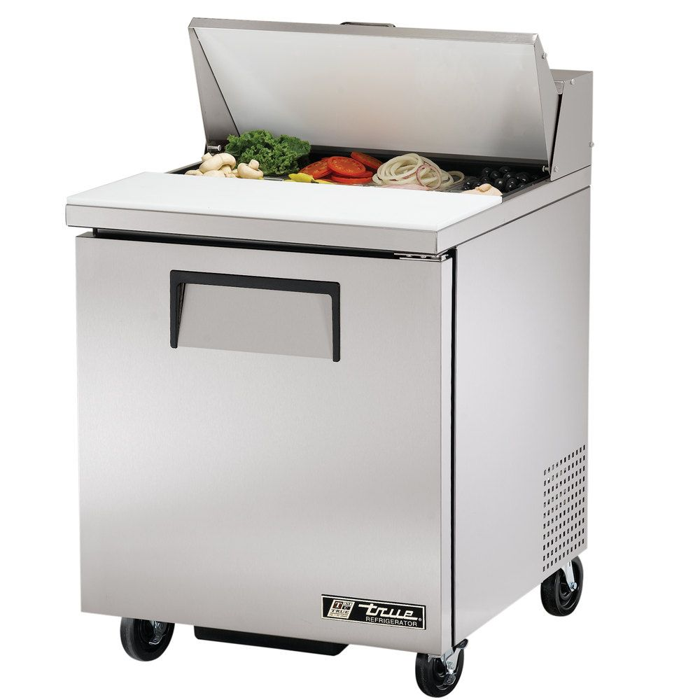 True TSSU Door Sandwich Salad Prep Refrigerator - Commercial prep table refrigerator